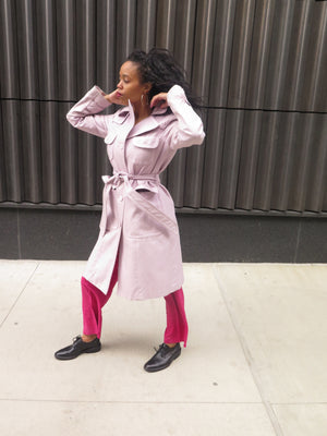 Marc Jacobs Lavender Trench Coat
