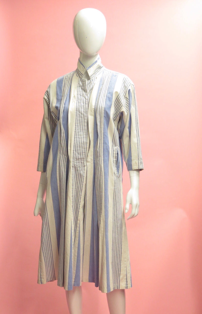 1990's KENZO Striped Cotton Tunic dress