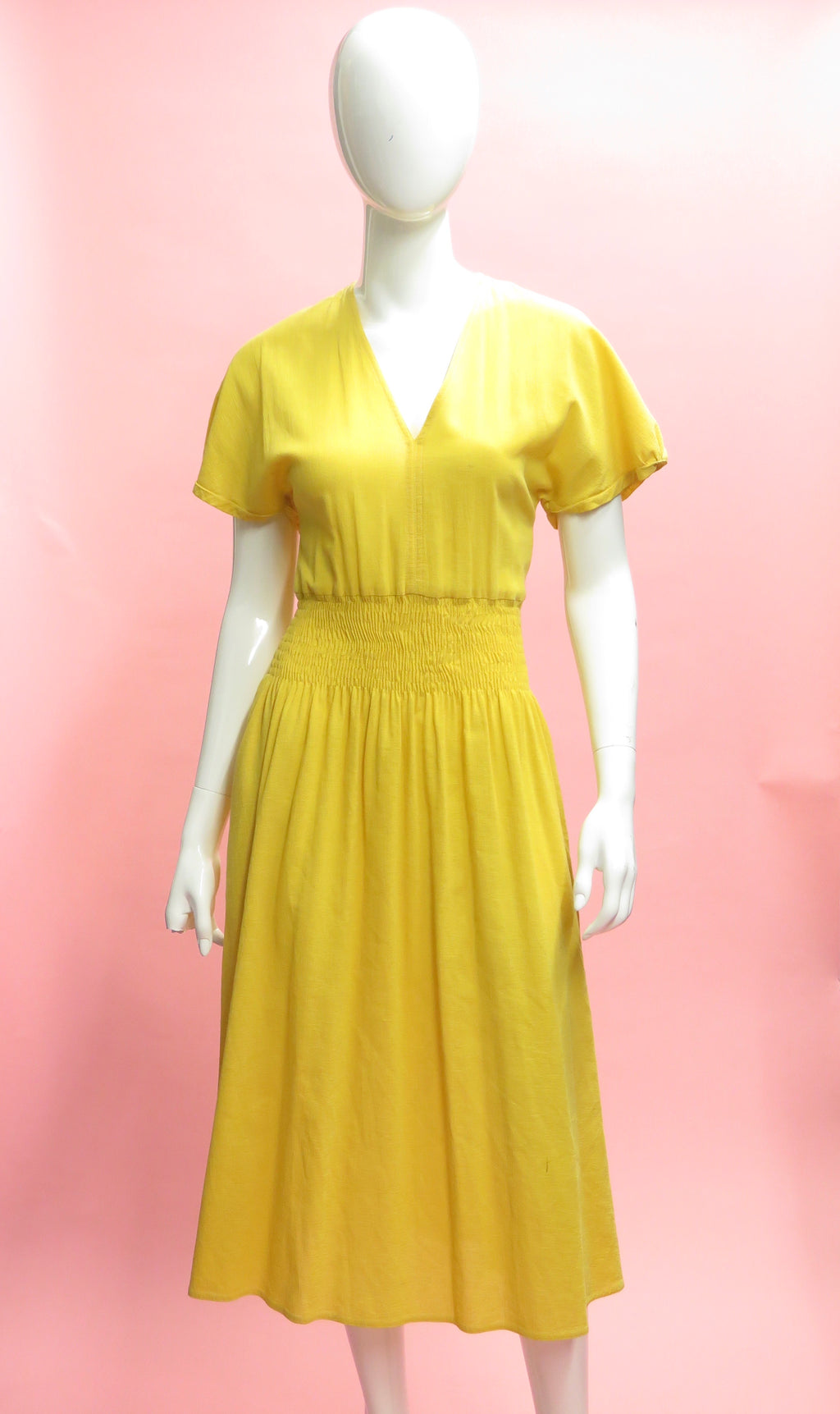 1990's Sonia Rykiel Smocked Cotton Sun Dress