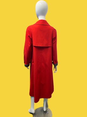 1960's Bonnie Cashin Fire Engine Wool Lined Toggle Coat