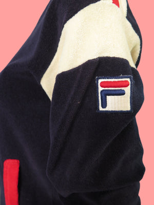 1980's Fila Terry Cloth zip up Track Jacket