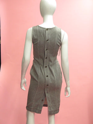 1980's Fendi Gray Denim Dress