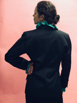 1980's Yves Saint Laurent Rive Gauche Le Smoking Double Breasted Tuxedo Jacket