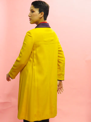 1960's light Wool Yellow Submarine Coat