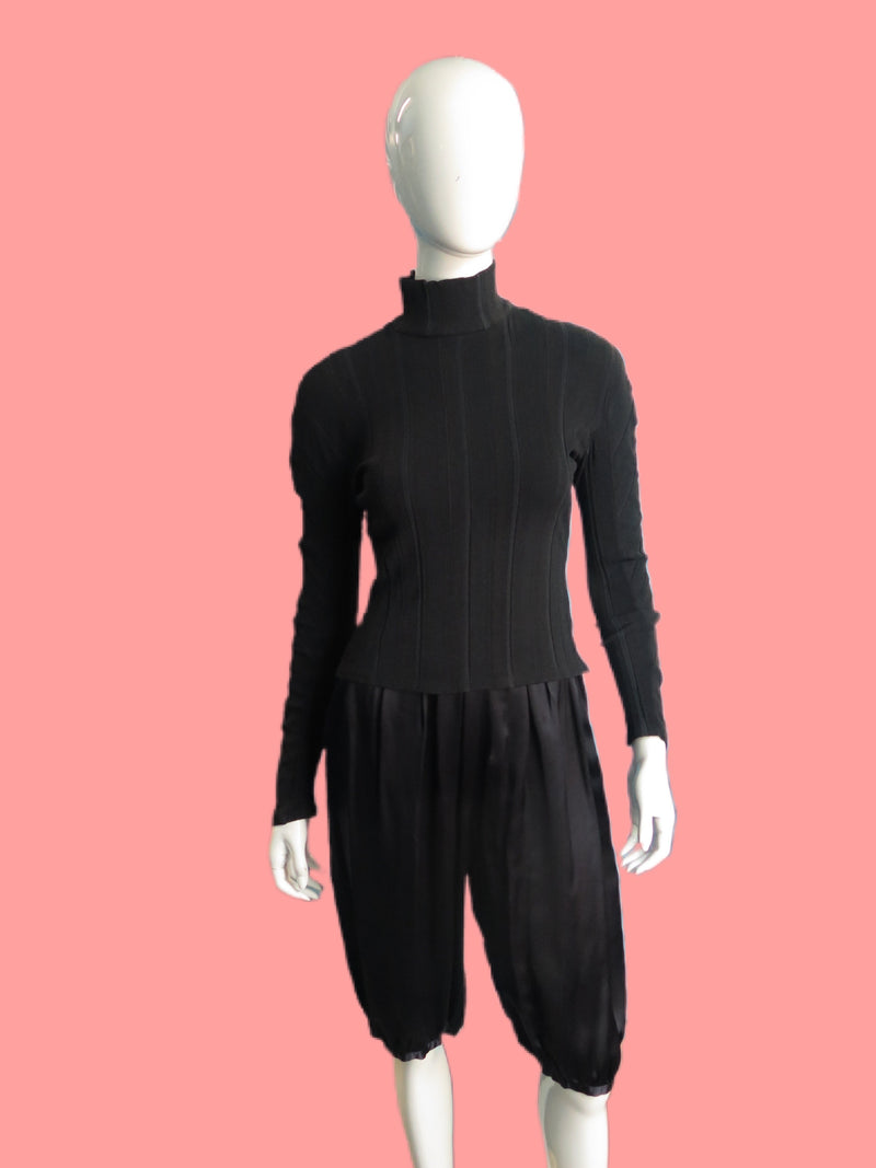 1990's John Galliano Ribbed Pullover Turtleneck Top