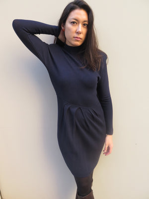 1980's St. John's for Saks 5th Avenue Wool Knit Sheath Dress