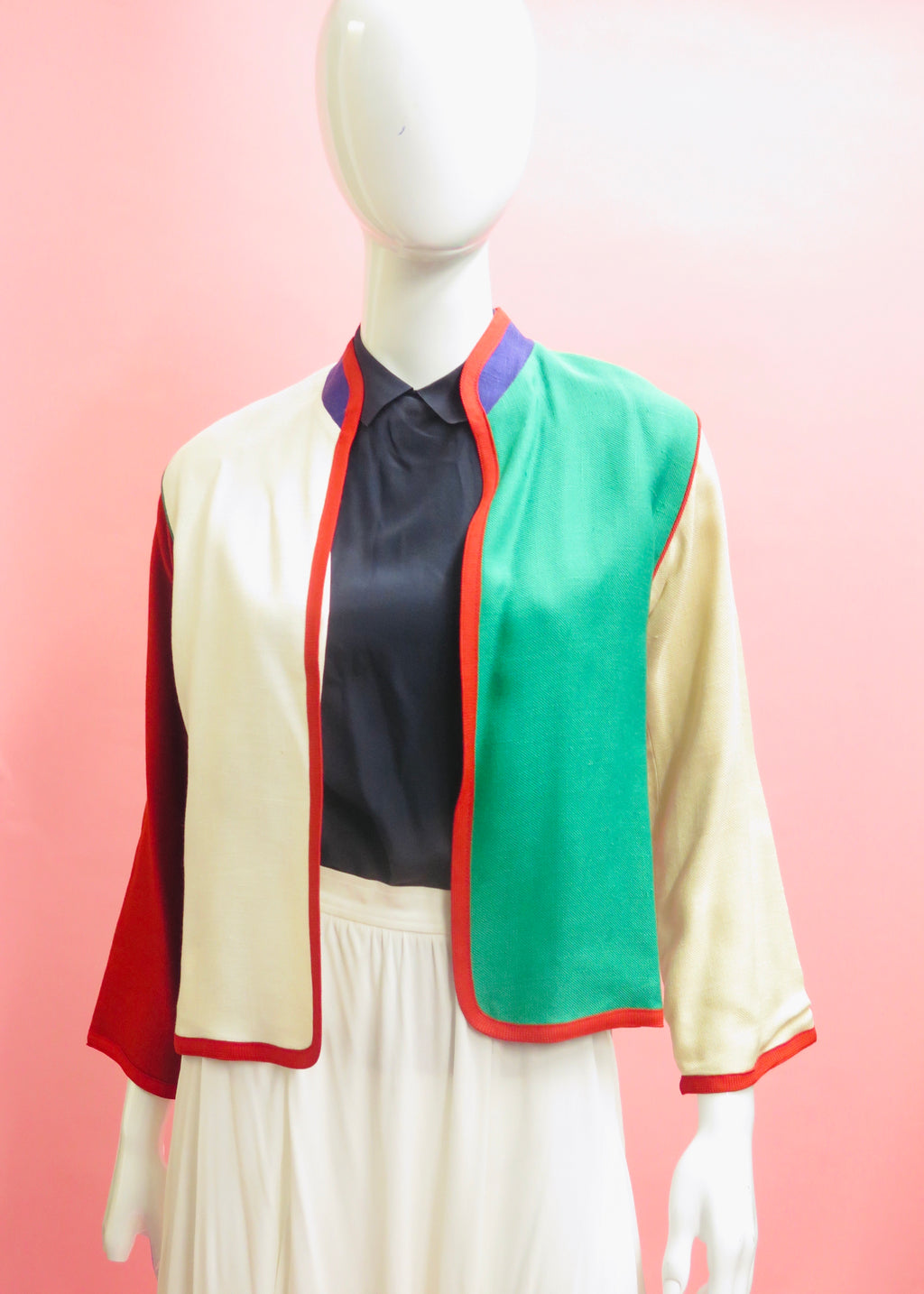 1990's Colorblock Open Face Jacket