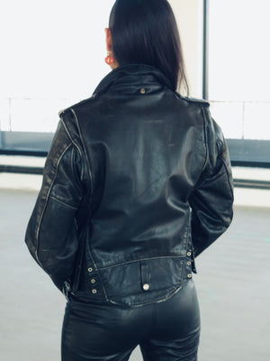 1980's Schott Perfecto Leather Motorcycle Jacket