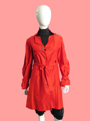 Celine Silk Cotton Belted Trench Coat