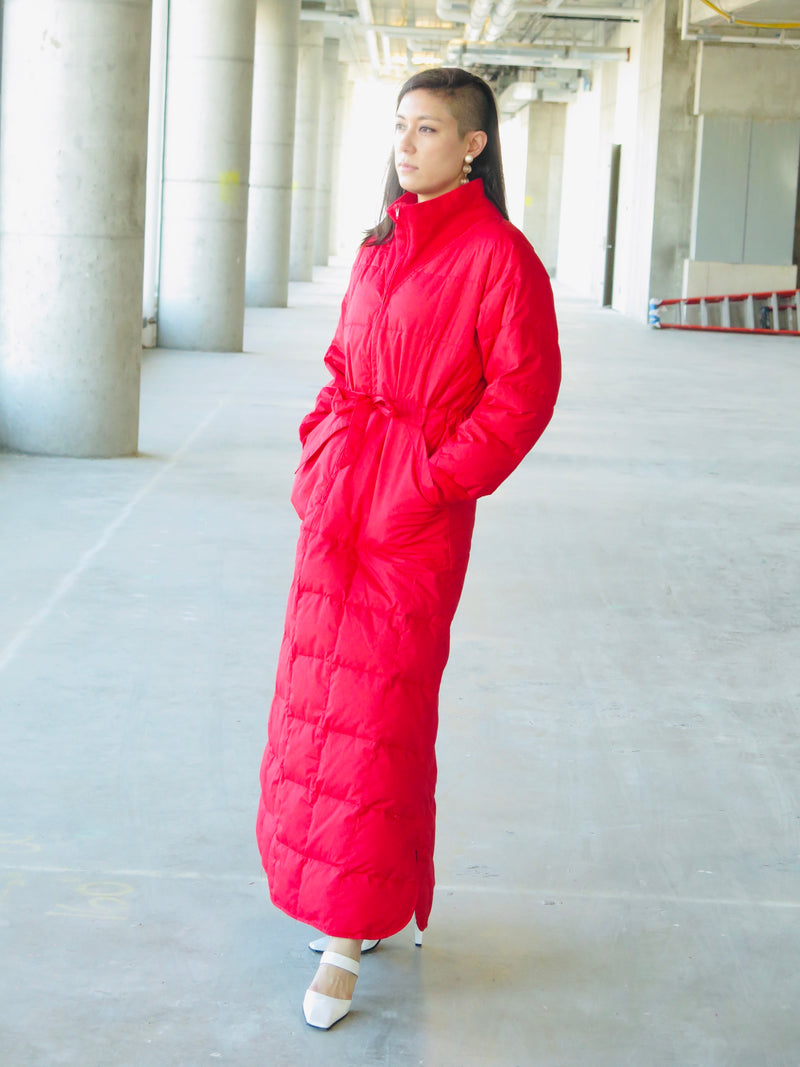 1980's Quilted Down Pullover Ski Dress