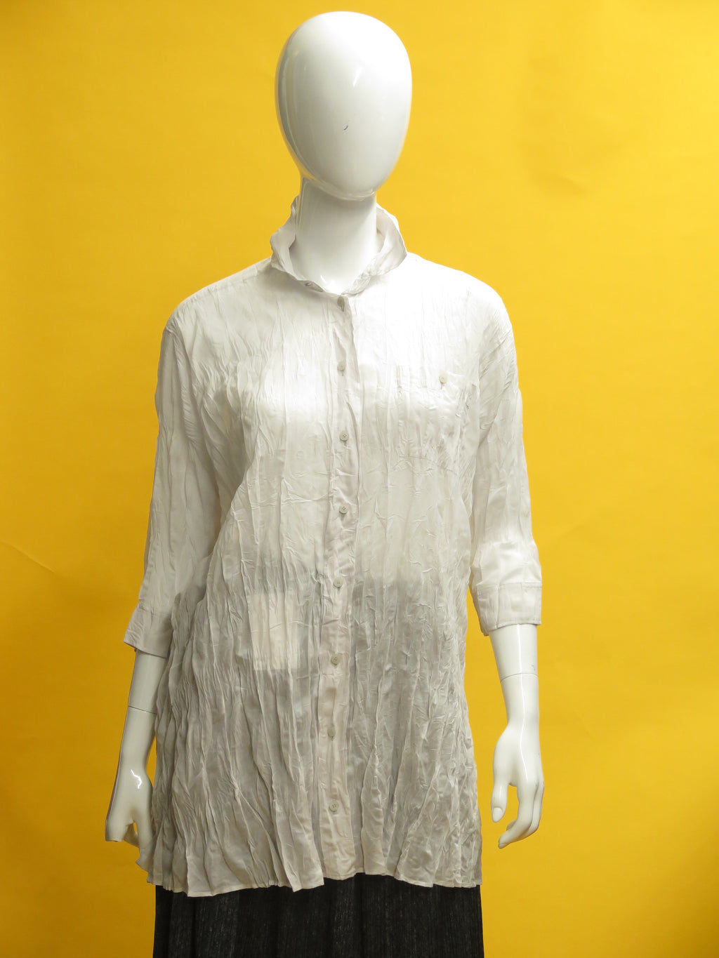 Issey Miyake Pleats Please Long Crinkle Button Down