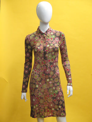 Missoni Floral Jersey Fitted Tunic Dress