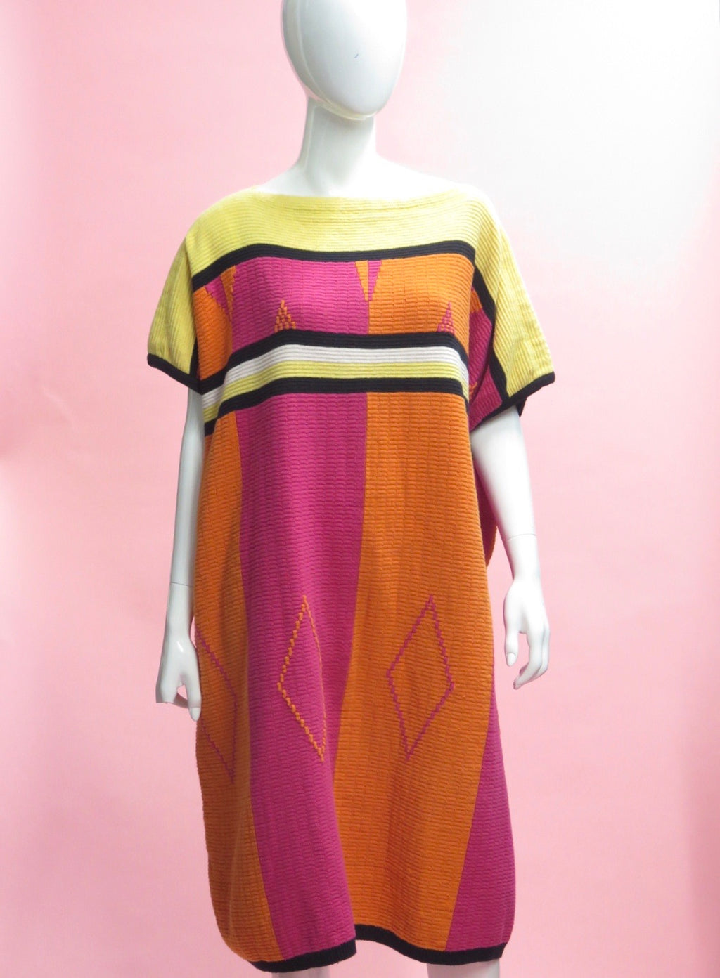 1990's KENZO Knit Cotton Caftan Dress