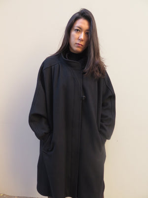 1980's Wool Toggle & ZIP Up Dolman Car Coat