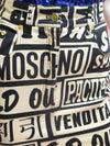"1990's Moschino Jeans ""Sold Out"" Logo Mini Skirt"