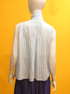 1990's KENZO Striped Cotton Open Top