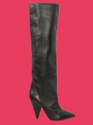 Isabel Marant Knee High Tall Black Boots Sz 38