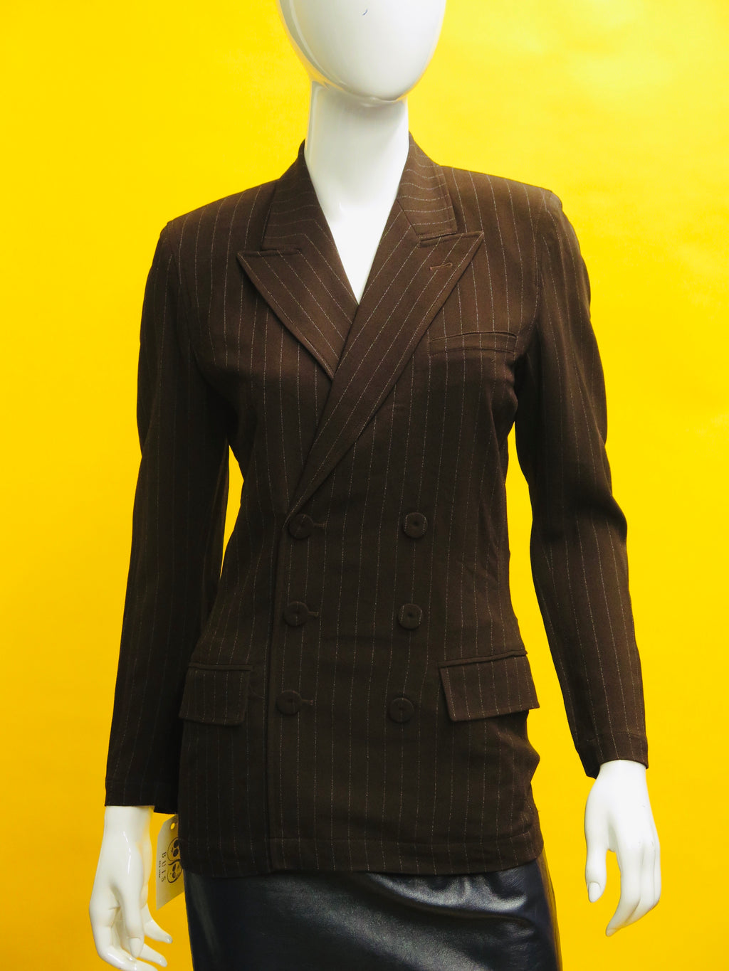 Jean Paul Gaultier Classique Pinstriped Jacket Pullover