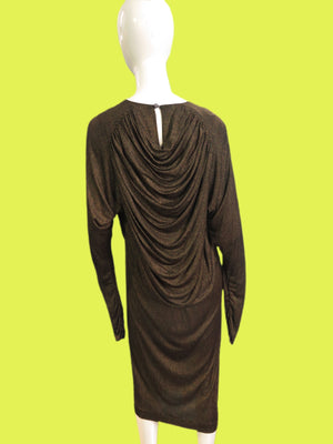 1970'a Missoni Silk Jersey Drape Goddess Dress