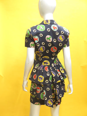 1980's Karl Lagerfeld Safari Print Dress