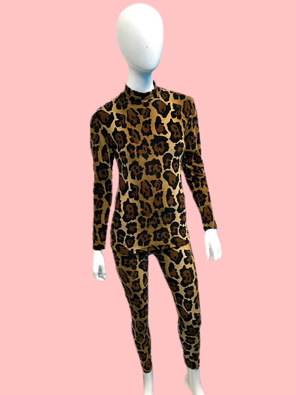 1990's KENZO Jungle Leopard Velour Set