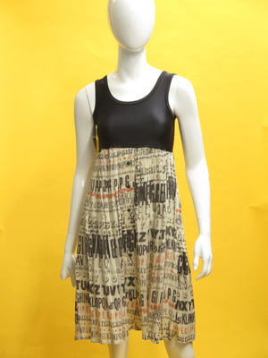 Jean Paul Gaultier JPG Jeans alphabets Tunic Dress