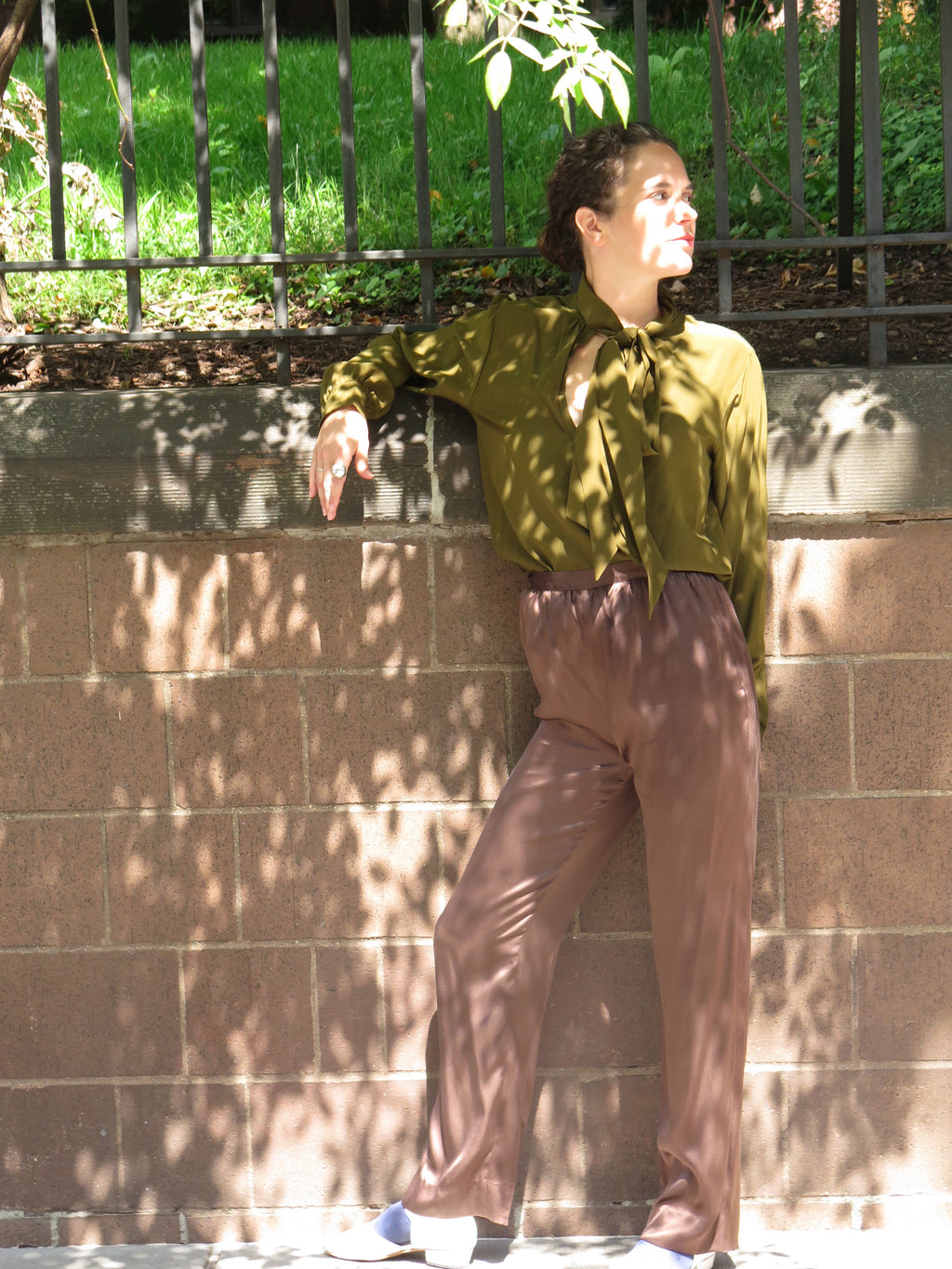 1980's Ralph Lauren Liquid Silk Pants