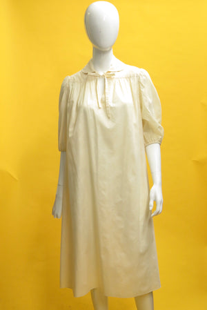 1960's Clovis Ruffin Gauzy Jacquard Smock Dress