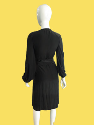 1970's Bill Blass Silk Wrap Dress