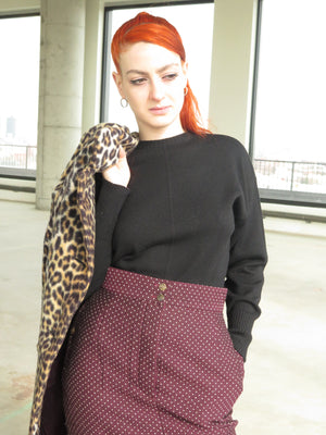 90s Dries Van Noten Swiss Dot Pencil Skirt