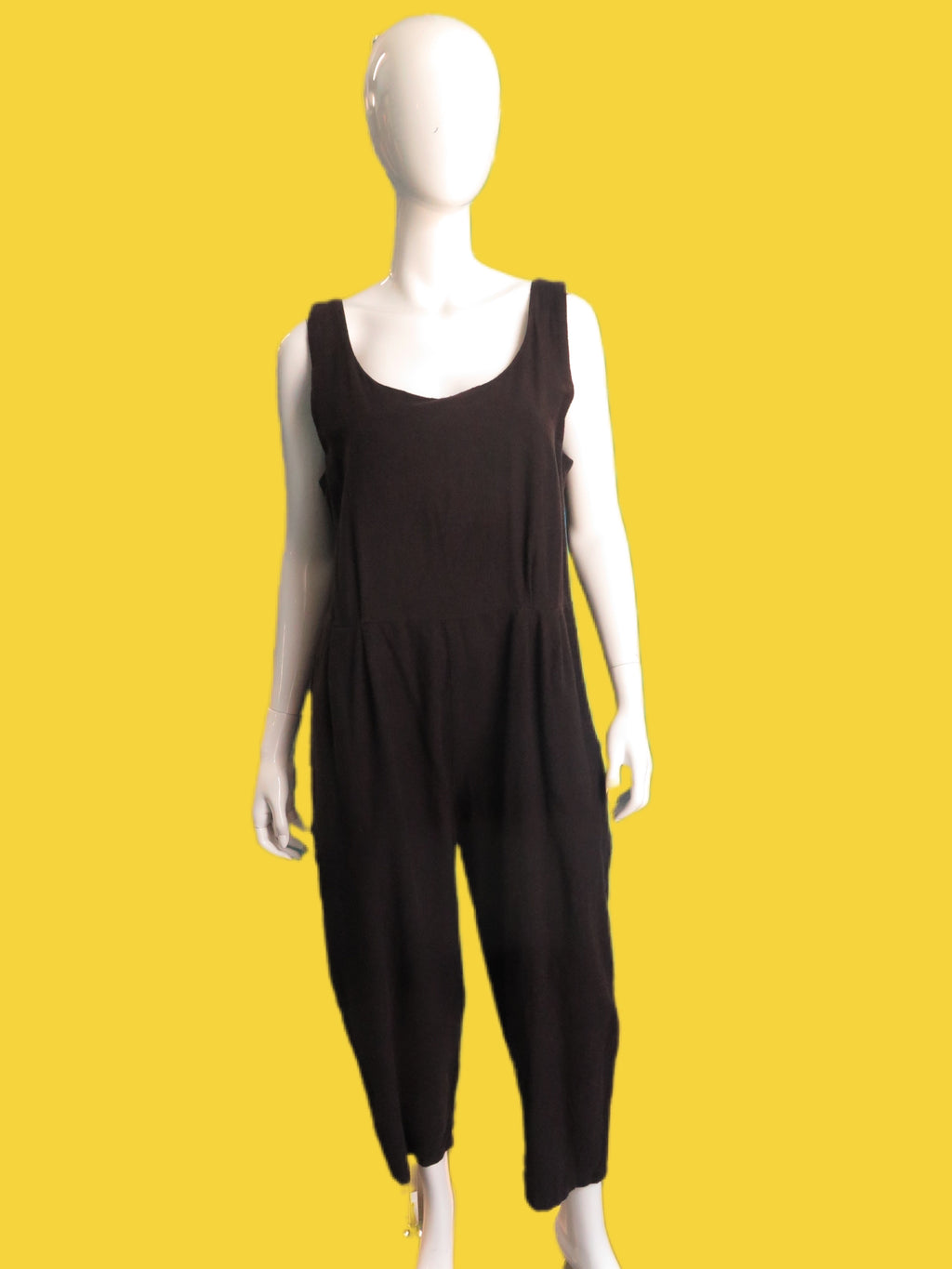 Black Crane Soft Cotton Jumpsuit
