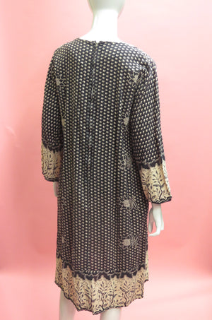 1970's Ramona Rull India Cotton Smock Dress