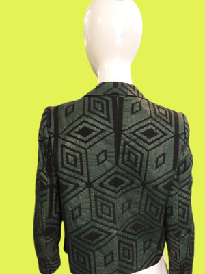 Dries Van Noten Diamond Print Jacquard Blazer