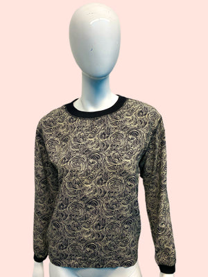 1980's Giorgio Armani Silk and Knit Pullover
