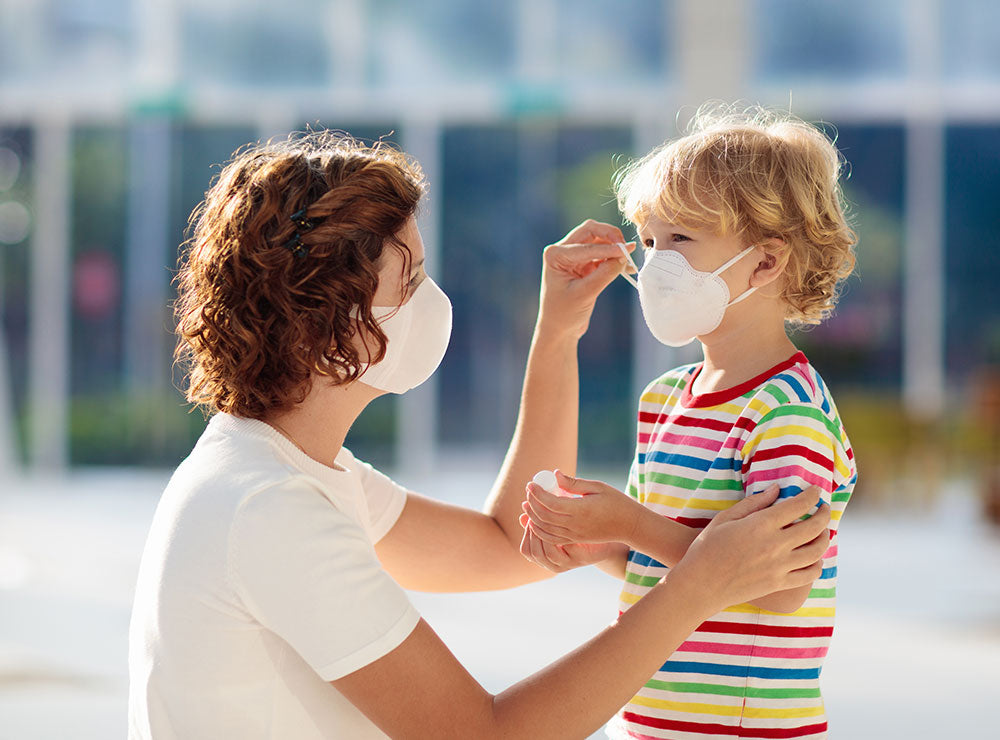 Respirator masks | Kid and mum | Personal protective equipment