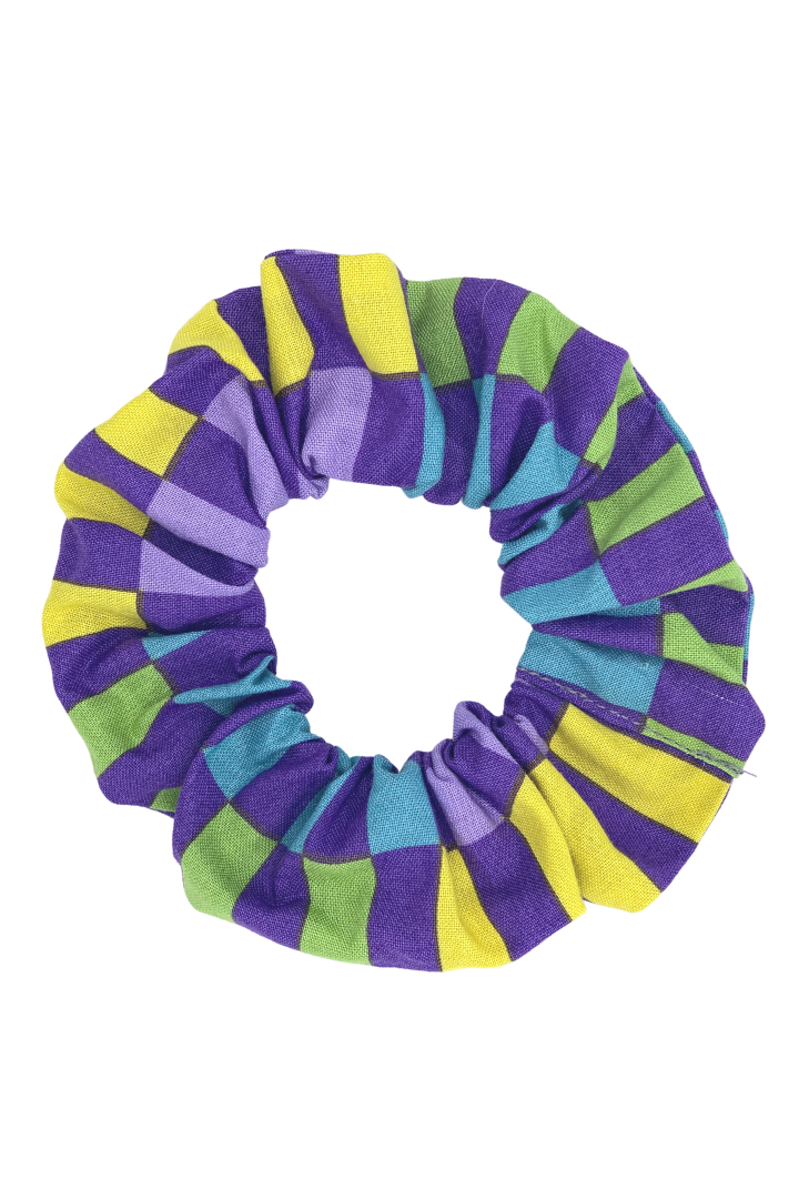 PURPLE LINES SCRUNCHIE