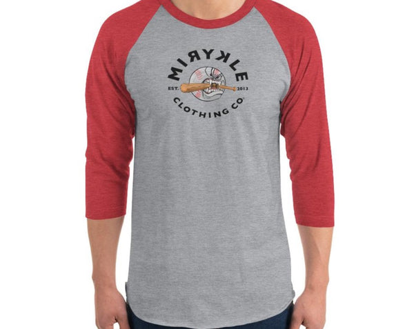 Mens 3/4 Sleeve Raglan MIRYKLE Baseball T-shirt