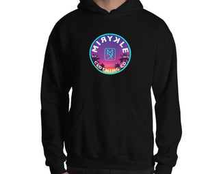 Black comfortable action sportswear hoodie MIRYKLE Clothing Co. Paradise And Palm Trees