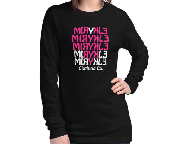 Women's Long Sleeve MIRYKLE Pink Heart Tee