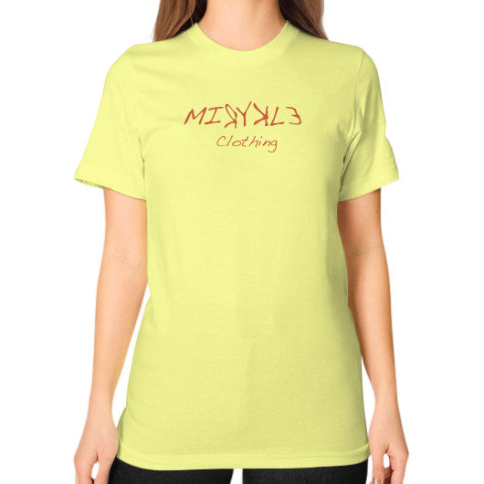 Unisex T-Shirt (on woman) Lemon MIRYKLE Clothing Co.