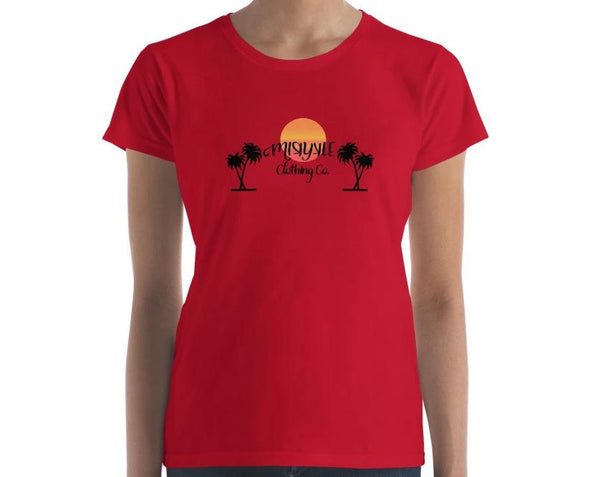 Women's Short Sleeve Tropical T-shirt