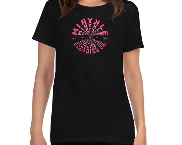 Women's Crew Neck Tee Pink MIRYKLE Tunnel