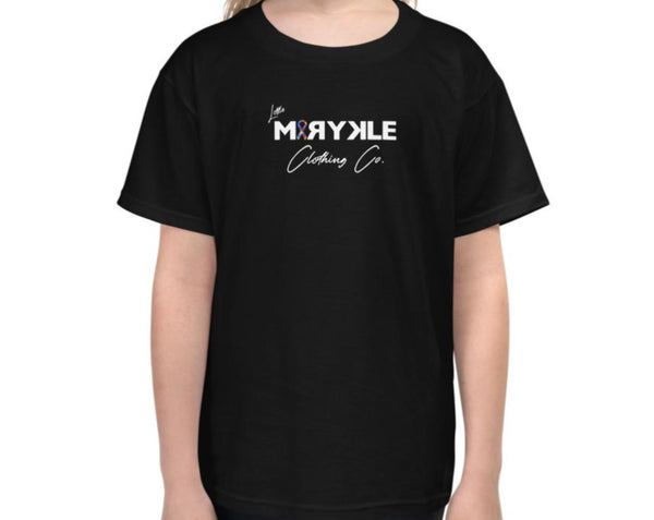 Youth Short Sleeve Little MIRYKLE Autism Ribbon T-Shirt