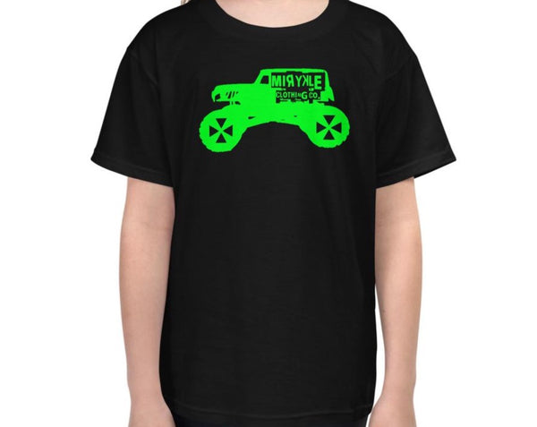 Youth Lightweight T-Shirt Green Monster Truck