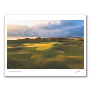 Digital watercolour of Hole 5 at Royal St Georges Golf Club Sandwich.