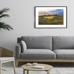 Framed photography print of Royal Portrush Golf Club by Adam Toth