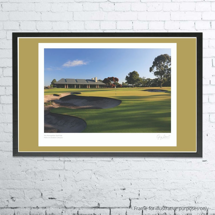A framed and mounted print of The Metropolitan Golf Club, Australia