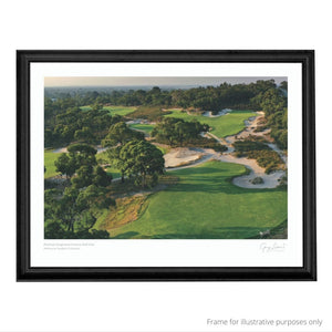 A black framed suggestion of Peninsula Kingswood Golf Club print