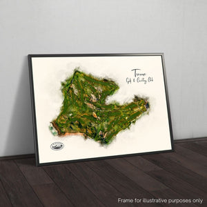 FRAMED GICLEE PRINT OF TREVOSE GOLF CLUB