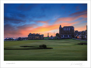 St Andrews Old Course 18th Dusk - Kevin Murray Golf Photography
